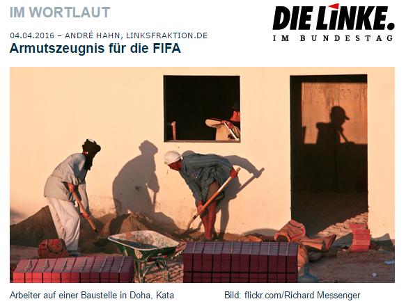 Armutszeugnis für die FIFA