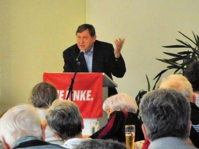 André Hahn auf der Gesamtmitgliederversammlung der LINKEN Pirna und Heidenau