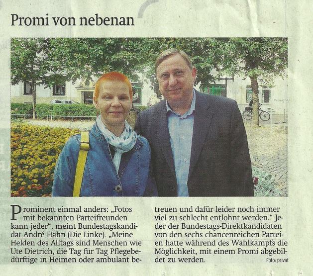 """Promi von nebenan"" (SZ, 21.9.17)"