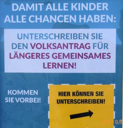 """Volksantrag """"GEMEINSCHAFTSSCHULE IN SACHSEN"""" gestartet"""
