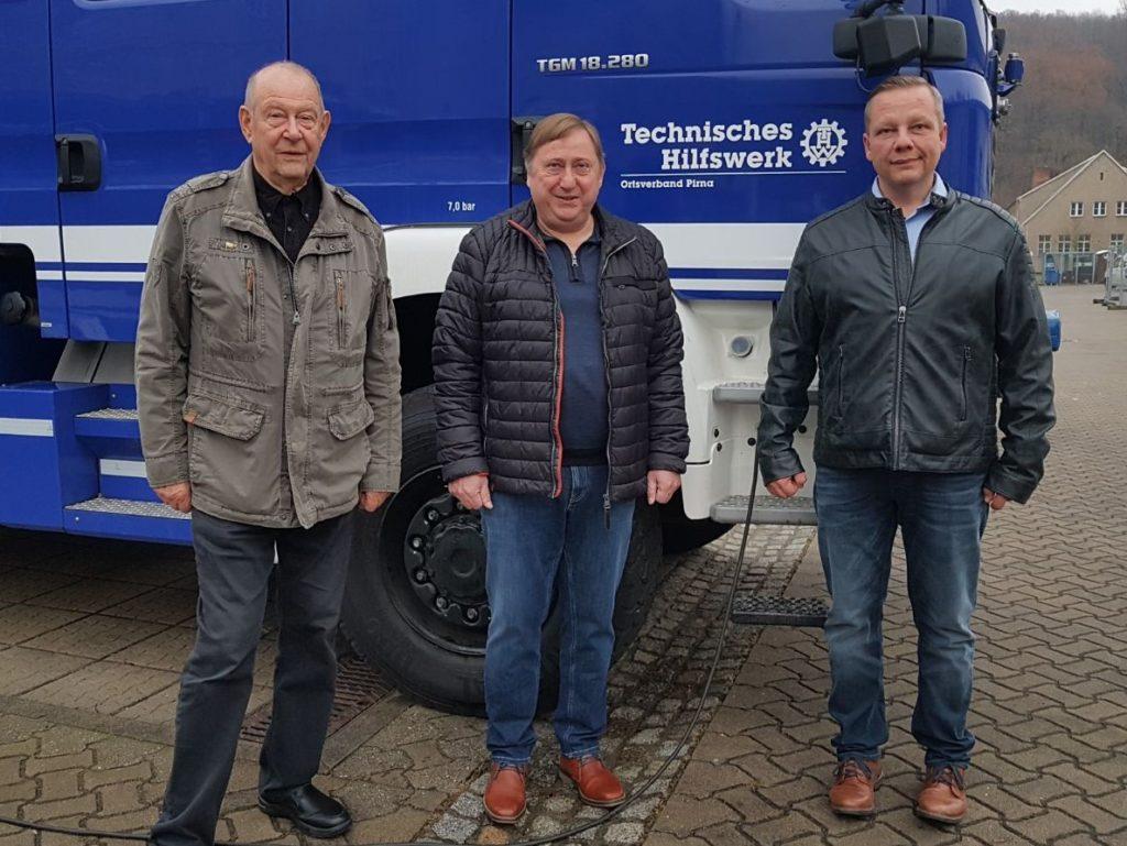 Besuch des Technischen Hilfswerks in Pirna