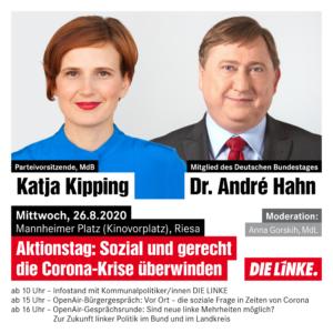 Sommertour: André Hahn und Katja Kipping in den Landkreisen SOE und Meißen