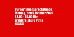 Bürger*innensprechstunde in Pirna