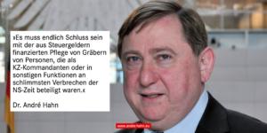 Schluss mit der öffentlich finanzierten Grabpflege für KZ-Kommandanten und andere NS-Verbrecher!