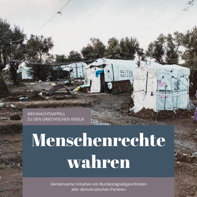 Weihnachtsappell für eine humanitäre Aufnahme Geflüchteter von den griechischen Inseln